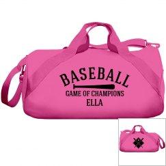 Ella, baseball bag
