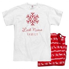 Snowflake Matching Xmas Pajamas