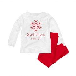 Snowflake Family Pajamas Onesie