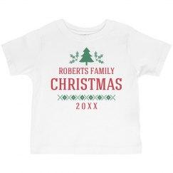 Toddler Size Matching Xmas Pajamas