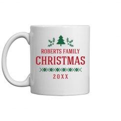 Family Christmas Custom Gift Mug