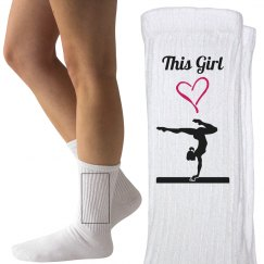 This girl loves gymnastic
