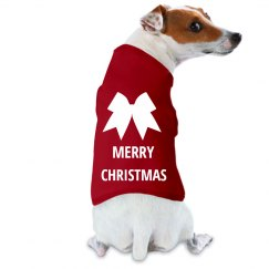 Merry Christmas Doggy Coat