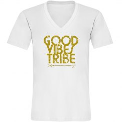 Mens VNeck Good Vibes Tribe