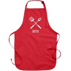 Rita personalized apron
