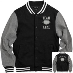 Personalized Football Coach Fleece Varsity Jacket
