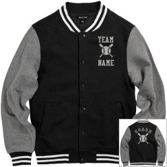 Personalized Baseball Coach Fleece Varsity Jacket