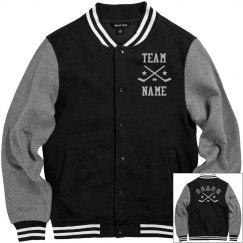 Personalized Hockey Coach Fleece Varsity Jacket