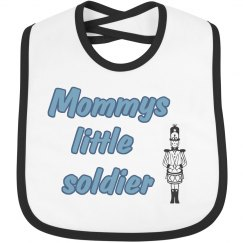 mommys little soldier baby  bib