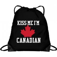 Kiss Me I'm Canadian Bag