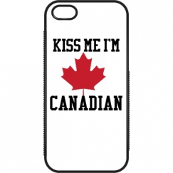 Kiss Me I'm Canadian iPhone5Case