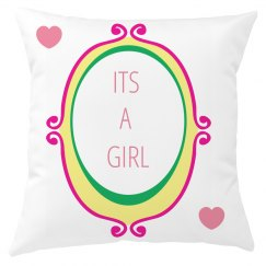 Its A girl Cushion Cover