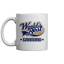 Worlds Best Grandad Gift Mug For Grandpa