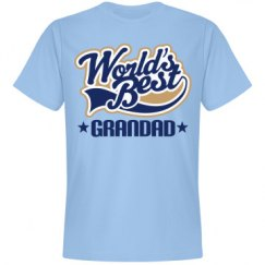 Grandad T-shirt Fathers Day Gift (Worlds Best)