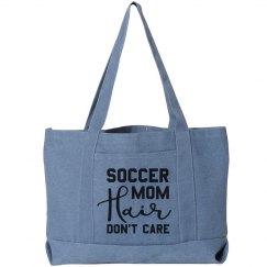 Soccer Mom Hair Funny Tote