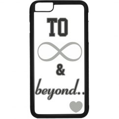 """'To Infinity and Beyond"""" silver design phone case,"""