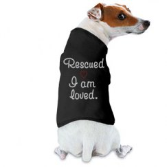 Rescued T Shirt Bedazzled