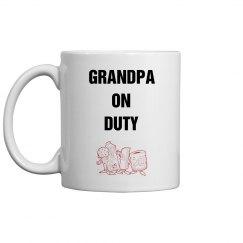 Grandpa on duty