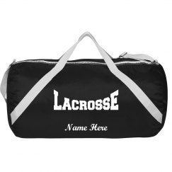Personalized lacrosse bag