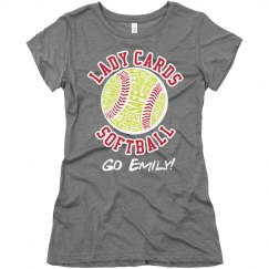 Typography Softball