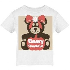 Beary Thankful kid tee