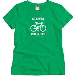 Go green ride a bike