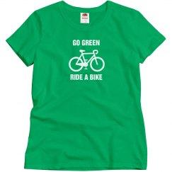 Go green ride a bike