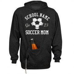 Thirsty Soccer Mom Hoodie With Front Koozie Pocket!