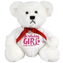 Custom Birthday Girl Bear