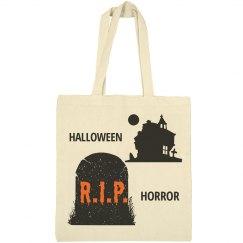 Halloween RIP Horror Tote Bag
