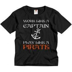Work like a Captain- Youth shirt