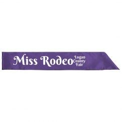 Miss Rodeo Sash