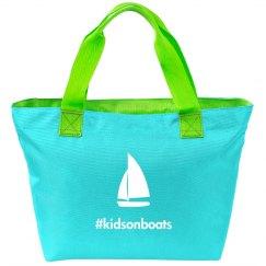 Kidsonboats, tote, green
