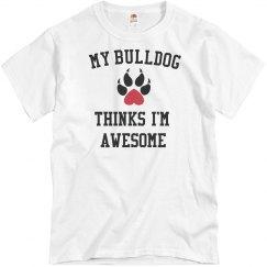 Bulldog loves me