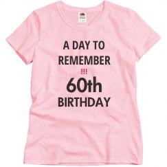 A day to remember, 60th