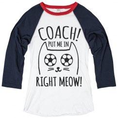 Cat Pun Soccer Girl Humor Coach