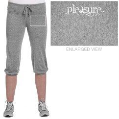 Grey Pleasure Crop Pants
