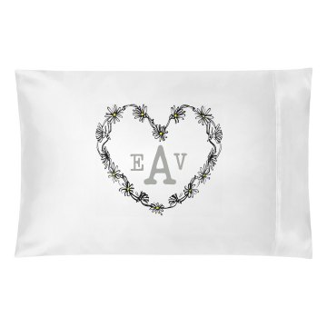 Daisy Heart Monogram