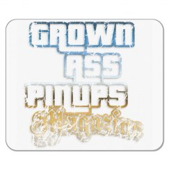 GROWN ASS PINUPS MAGAZINE DISTRESSED MOUSE PAD