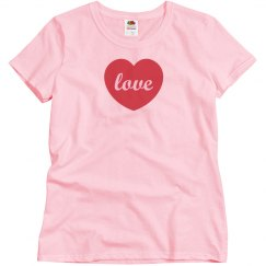 Love Heart Valentine Tees