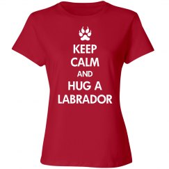 Hug a labrador dog shirt