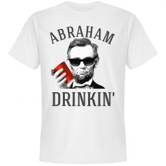 abraham lincoln drinkin' usa short sleeve shirt