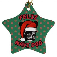 Feliz Navi-Dog Ornament