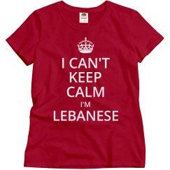 I'm Lebanese