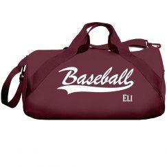 Eli's baseball bag
