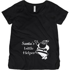 Santa's Little Helper Christmas Maternity Top