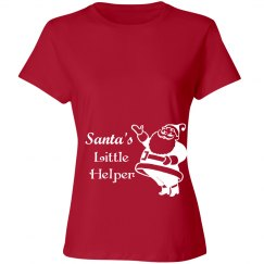 Santa's Little Helper Christmas Maternity Tshirt