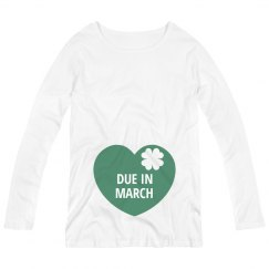 Due in March St Patricks Maternity Top