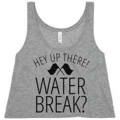 Funny Color Guard Water Break for Band Camp Crop Top
