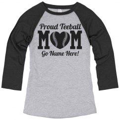 Teeball Mom Jersey Pride Custom